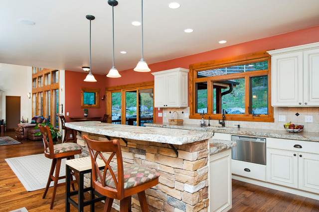 Colorado Mountain Home Rustic Kitchen