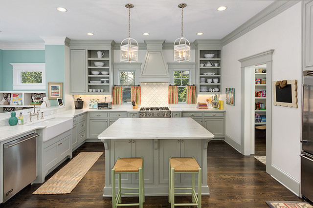 Exceptionnel Colorful And Cheery Transitional Kitchen