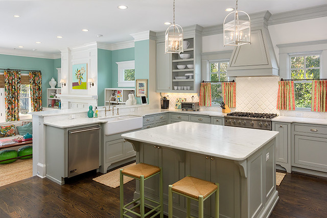 Colorful And Cheery Transitional Kitchen Atlanta