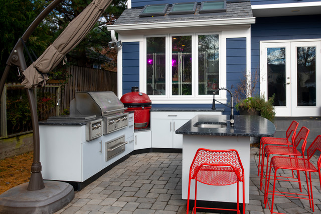 Colorful Danver Outdoor Kitchen In Falls Church Contemporary Kitchen Dc Metro By Design Builders Inc Houzz