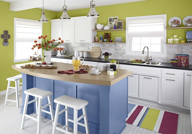Colorful Kitchen Makeover contemporary-kitchen