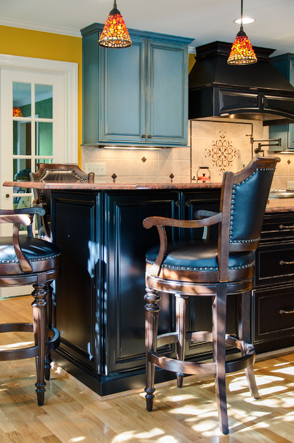 Colorful Kitchen with Exquisite Details traditional-kitchen