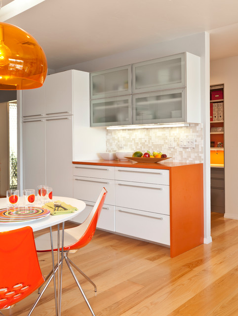 Colorful Mid Century Modern Residence contemporary kitchen