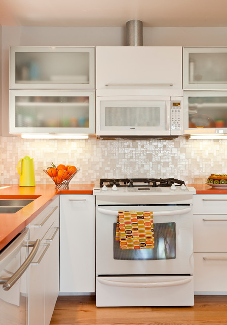 Colorful Mid Century Modern Residence modern kitchen