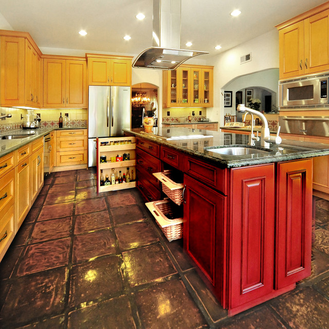 Colorful modern spanish kitchen mediterranean kitchen for Kitchen units spain