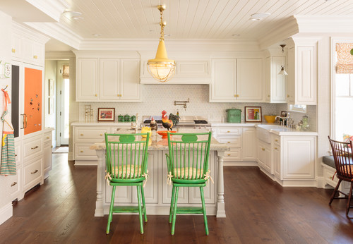 Colorful Traditional Kitchen