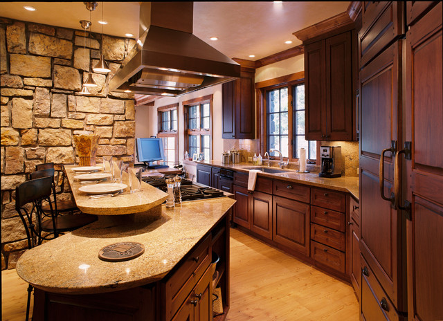 Columbine Residence rustic-kitchen