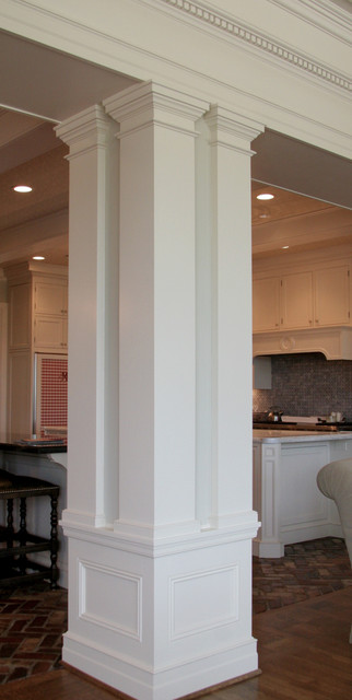 column traditional kitchen