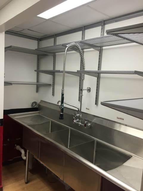Commercial Kitchen Cleaning Sink - Industrial - Kitchen - by ...