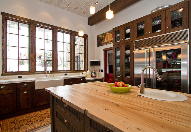 Commercial Kitchen In Mountain Home Rustic Kitchen Denver By Charlie Dresen Steamboatsmyhome Houzz Au