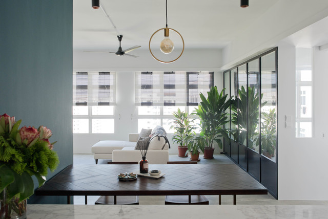 Compassvale Apartment contemporary-kitchen