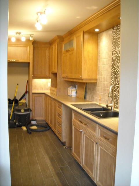 Complete Condo Renovation (kitchen) in St-Lambert contemporary-kitchen