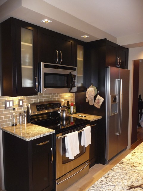 Interior Designers Decorators Complete Gut Condo Contemporary Kitchen