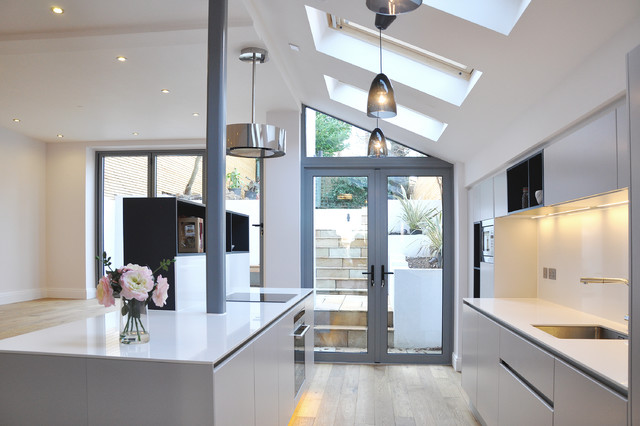 Complete Renovation Of Semi Detached House London Contemporary Kitchen London By Studio To Houzz Au