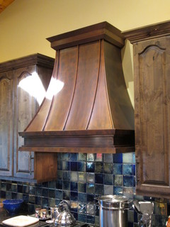 Concave Shape: Custom Copper Range Hood # 34