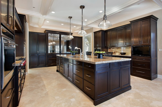 Concealed Appliances In Perimeter Amp Island Traditional
