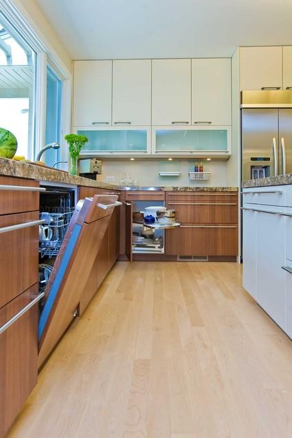 Concealed dishwasher in bay area kitchen remodel modern for Kitchen remodel bay area