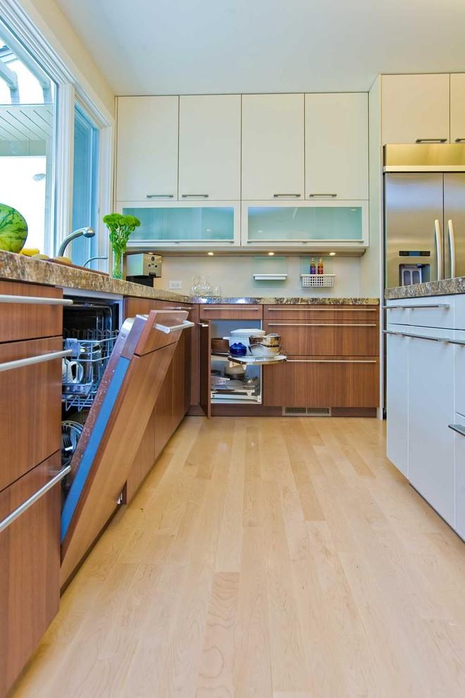 concealed dishwasher in Bay Area kitchen remodel ...