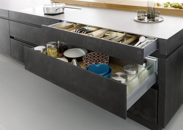 Concrete Cabinets Industrial Chic Rustic Kitchen Boston - Concrete cabinets