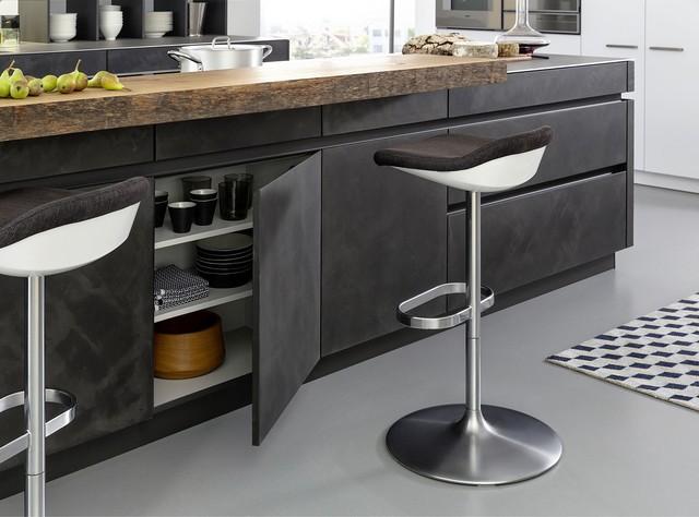 Merveilleux Concrete Cabinets   Industrial Chic Rustic Kitchen