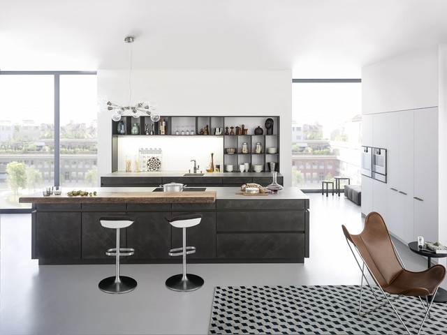 Charming Concrete Cabinets   Industrial Chic Rustic Kitchen