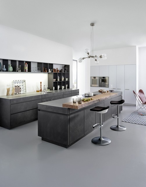 Concrete Cabinets - Industrial Chic - Rustic - Kitchen - other metro - by Leicht Kitchens Boston ...