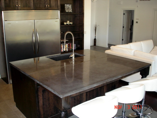 Concrete Countertops traditional-kitchen