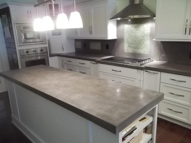 Concrete countertops - Contemporary - Kitchen - Charlotte - by ...