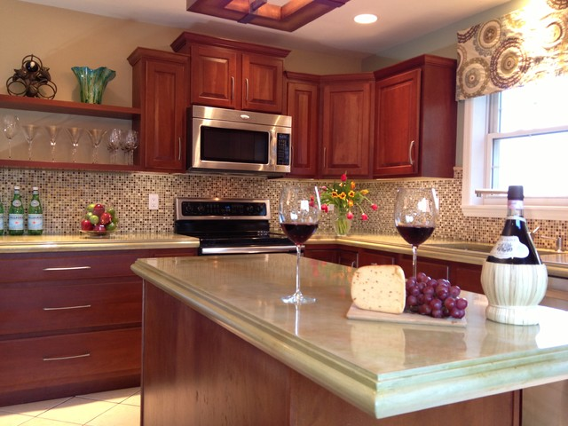 Concrete Countertops Traditional Kitchen Other Metro