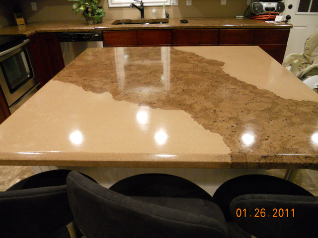 Concrete Countertops Envison Traditional Kitchen Salt Lake