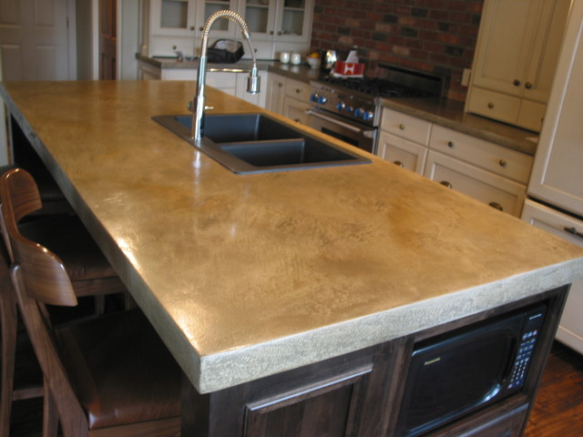 Concrete Countertops Modern Kitchen