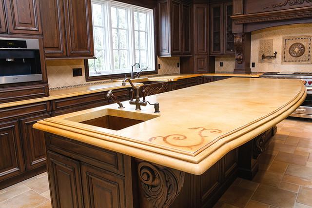 Concrete Countertops traditional-kitchen