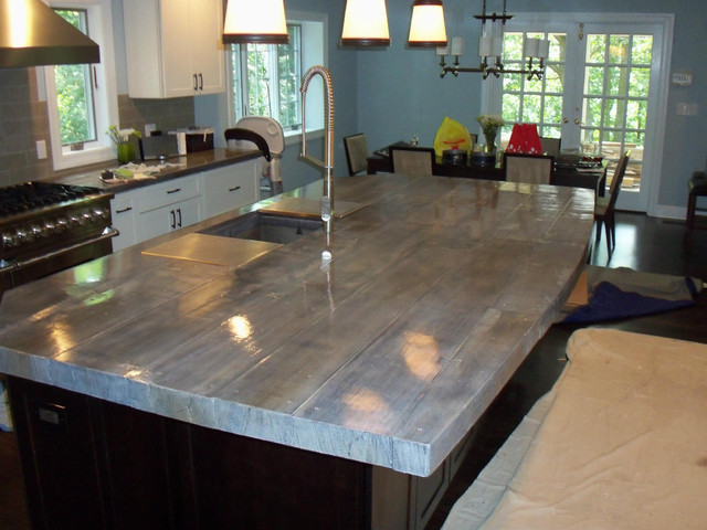 Concrete Countertops Eclectic Kitchen