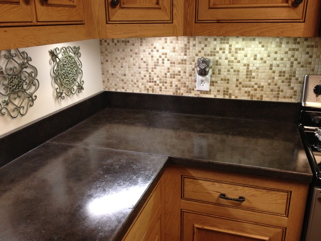 Concrete Countertops Traditional Kitchen