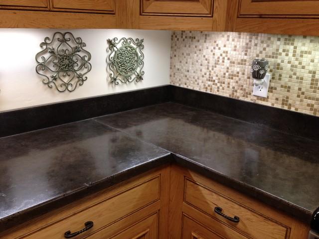Concrete Countertops Traditional Kitchen Jackson By Pearidge
