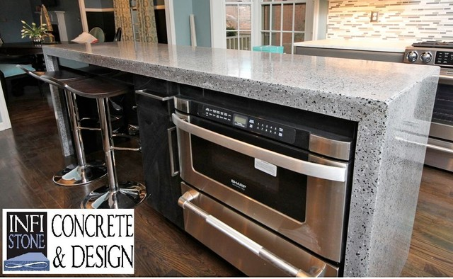 commercial kitchen cabinets concrete countertops recycled glass kitchen island 2381