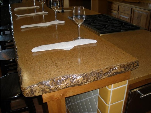Concrete Countertops That Look Like Granite Slabs Rustic