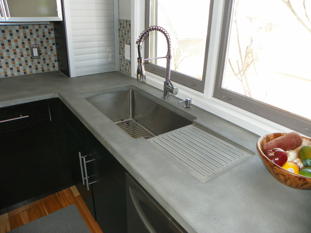 concrete kitchen countertops - Modern - Kitchen - Denver ...