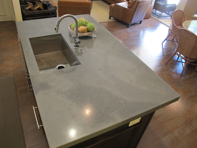 Concrete Kitchen Island - Faux Raw Look modern