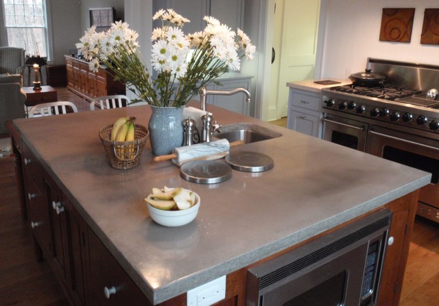 Engineered-concrete - Brooks Custom contemporary kitchen countertops