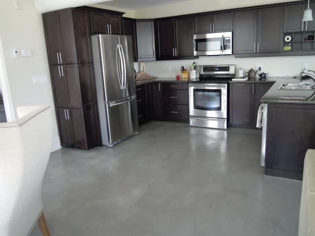 Concrete Overlay Condo Floor