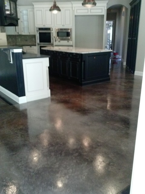 Concrete Staining Traditional Kitchen Jacksonville By N Fl