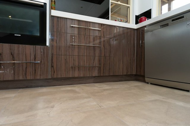 Concrete tiles alternative to polished concrete solid floor for Cement tiles for kitchen