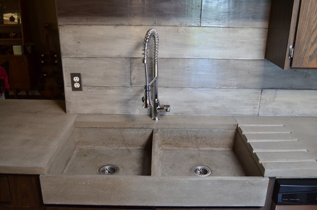 Concrete Worktops and Countertops - Contemporary - Kitchen - vancouver - by MODE CONCRETE