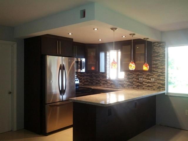 Condo in miami black cabinets - Miami design center kitchen bath closets ...