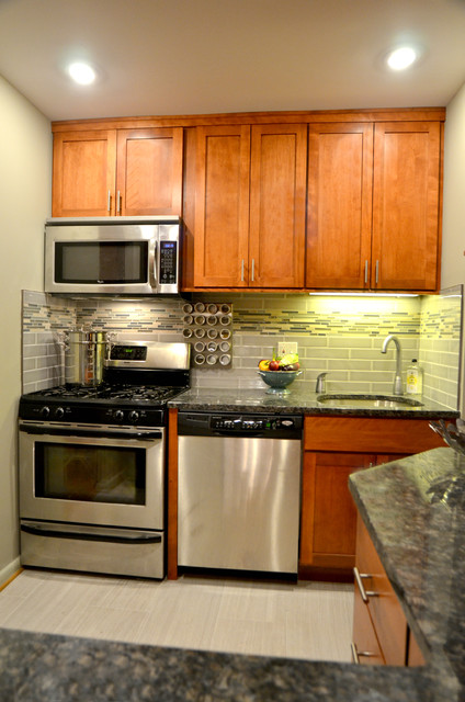 Condo Kitchen Alexandria Va Transitional Kitchen Dc Metro By Skill Construction