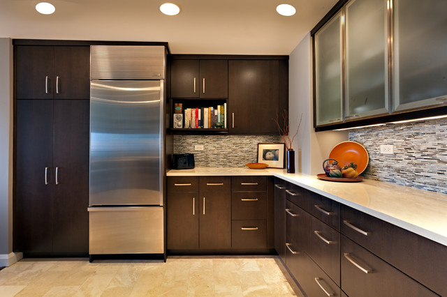 Condo kitchen contemporary kitchen other metro by for Kitchen design houzz