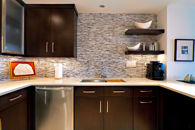Condo kitchen contemporary kitchen other metro by for Kitchen designs houzz