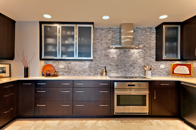 Condo Kitchen - Contemporary - Kitchen - other metro - by Hermitage Kitchen Design Gallery