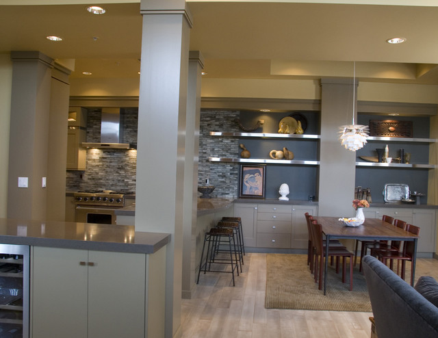Condo kitchen with painted cabinets for Modern condo kitchens